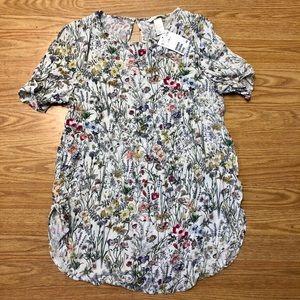 H&M Womens size 8 Floral Blouse Top